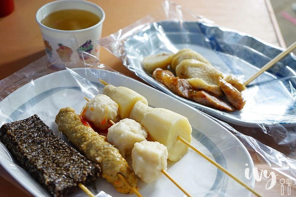 阿豹香腸攤 澎湖市區排隊小吃攤,炭烤大腸包小腸和多樣關東煮,但份量不多價位稍高!