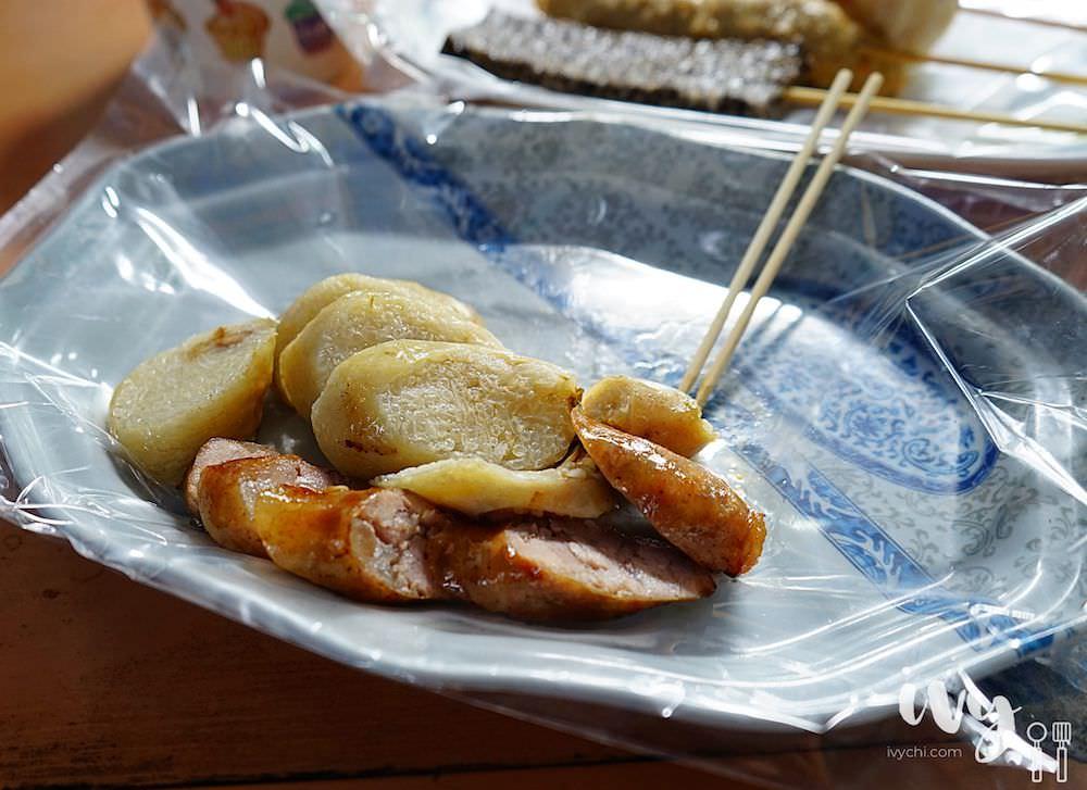 阿豹香腸攤|澎湖市區排隊小吃攤,炭烤大腸包小腸和多樣關東煮,但份量不多價位稍高!