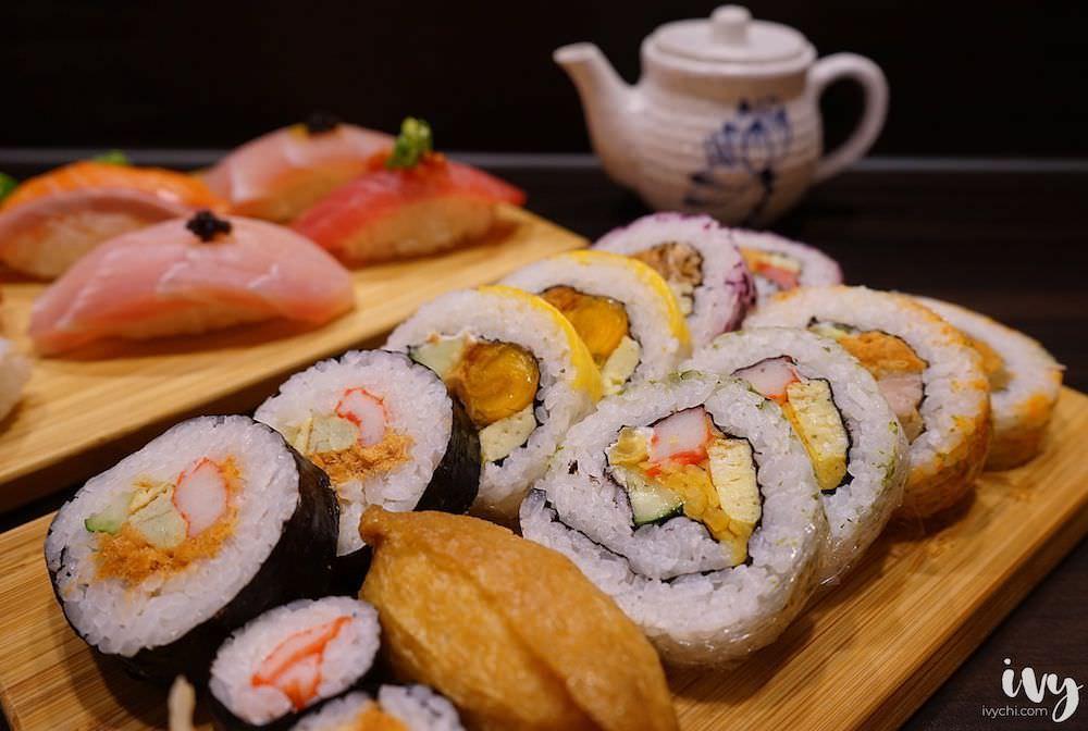 無二壽司 台中華美黃昏市場平價深夜日式餐廳,創意料理和隱藏菜單絕對要試,還可外帶綜合花壽司!