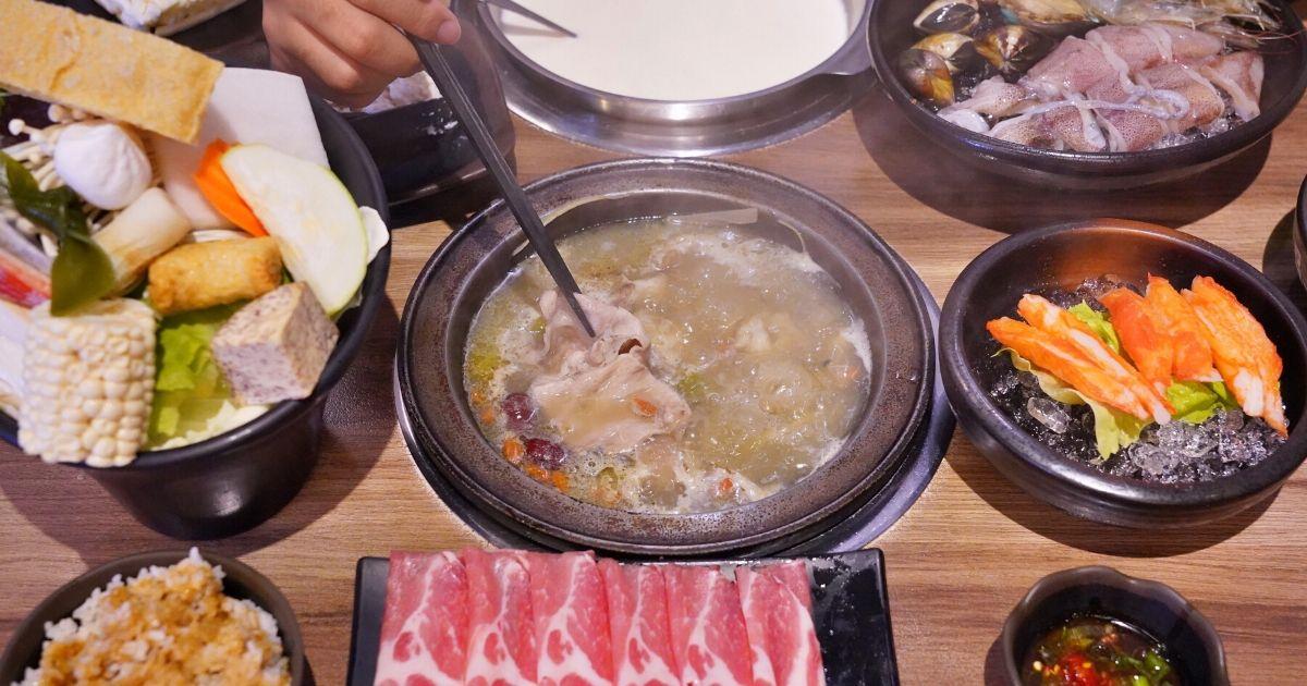 八吋鍋 |台中大里石頭火鍋,特色湯底290元起,藥膳豬腳鍋:牛奶鍋,非點不可!