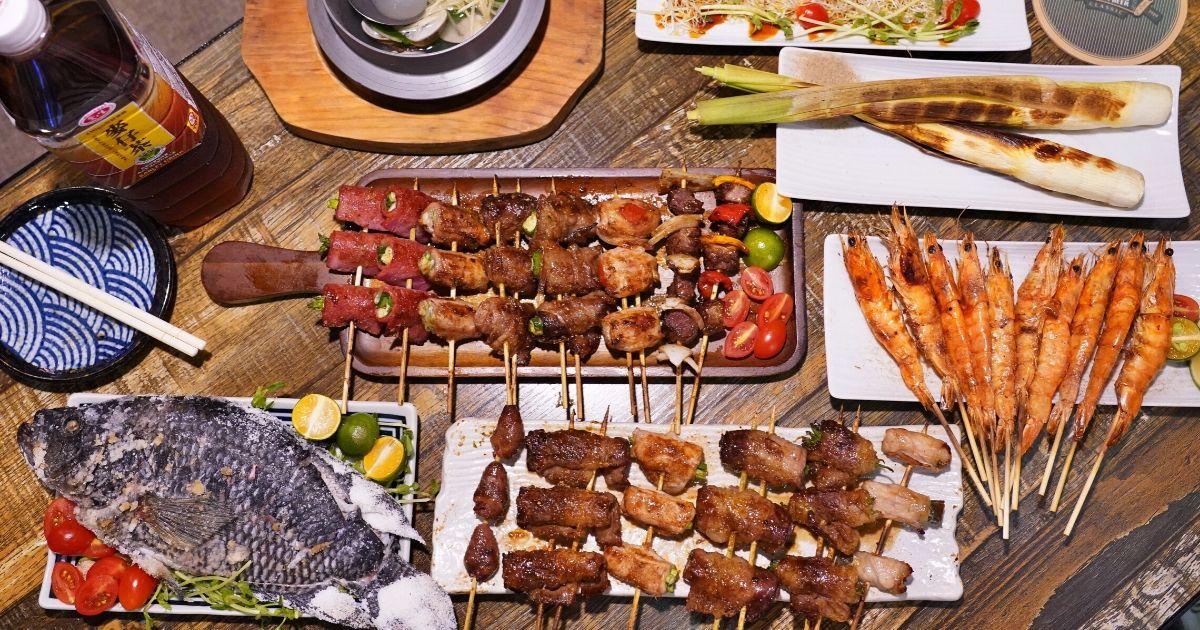 火奴魯魯山西店 |台中這家串燒好平價,每串最低只要25元,還有炸物、湯品、烤物,晚餐宵夜聚餐首選!