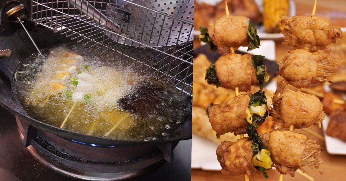 賴記七里香家味串燒 |台中科博館旁先炸後烤的平價串燒和鹹酥雞,特調大辣口味麻香超涮嘴!