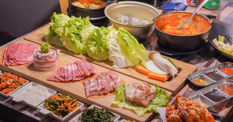KIM Daddy韓國烤肉 |台中精明商圈道地韓式燒烤,澎湃雙人套餐,爽吃肉品和生菜,還有6道小菜吃到飽!