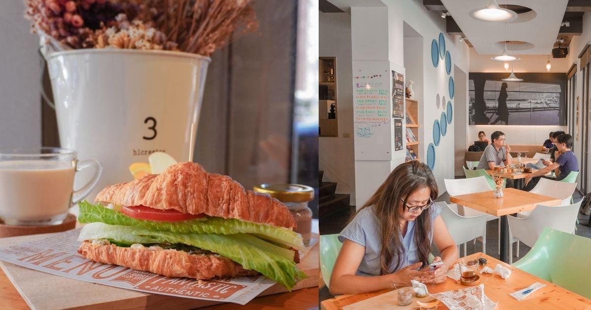 啡文學咖啡館 |台中南屯人氣不限時有插座咖啡廳,大份量早午餐必點鬆脆可頌!
