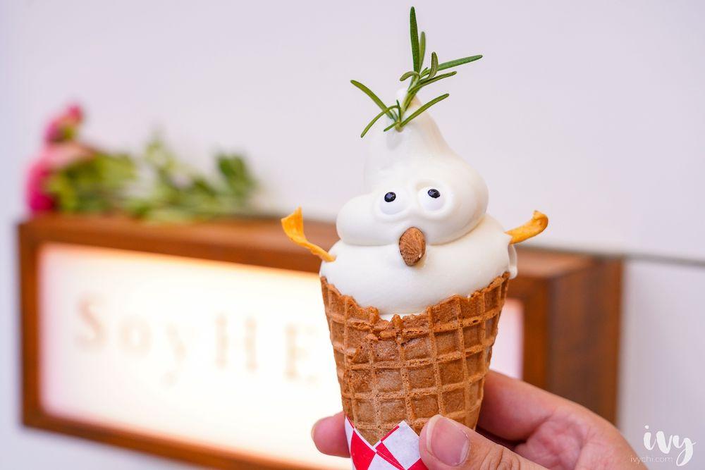 SoyHERE這裡濃豆乳 |一中隱藏版甜點,可愛的雪怪豆乳霜淇淋和自製豆乳飲料,就藏在日式文青小宅中!