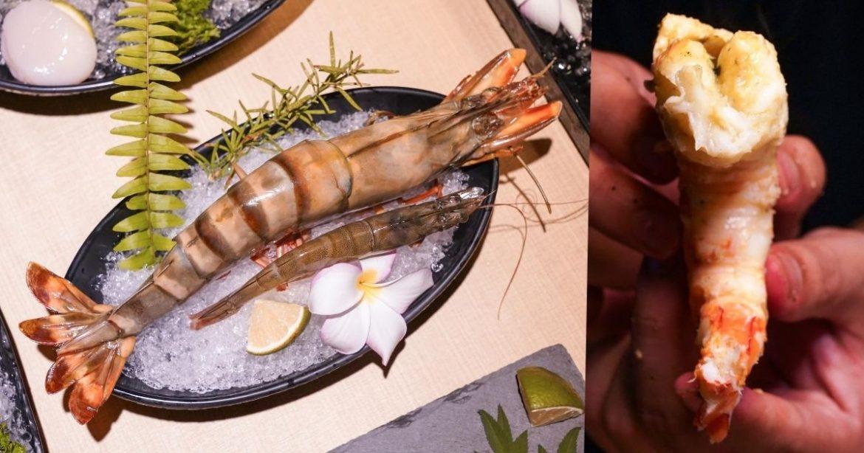 糧薪客棧 |沙鹿隱藏版燒肉店,超猛進擊巨蝦簡直可以媲美龍蝦肉,食材不輸知名燒肉店!