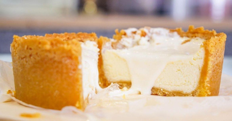 杏芙蒔光 |台中北屯會爆漿的乳酪蛋糕,還必點新鮮水果現打芝士奶蓋飲料~