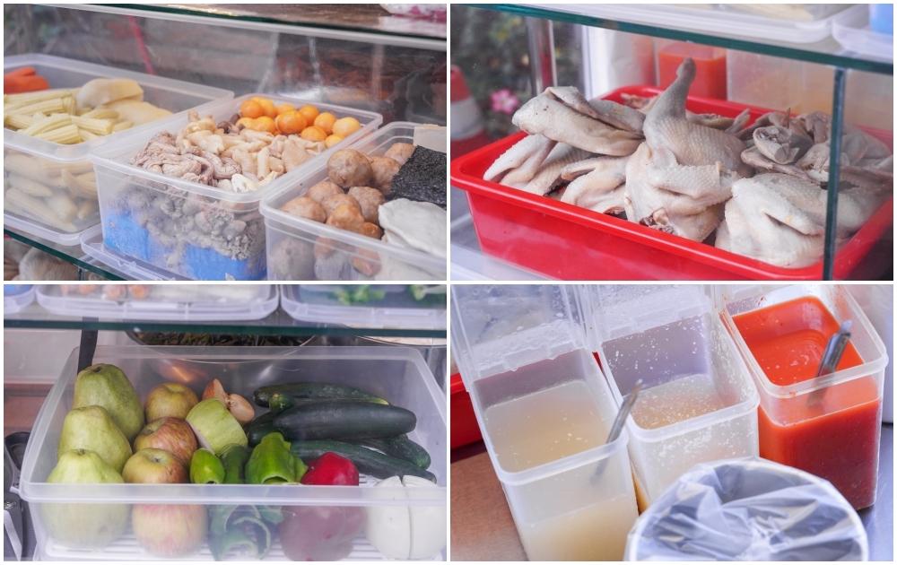 不吃不可鹹水雞 台中北區店  中國醫藥巷弄平價小吃,爽脆不膩的鹹水雞還能搭配水果、蔬菜!