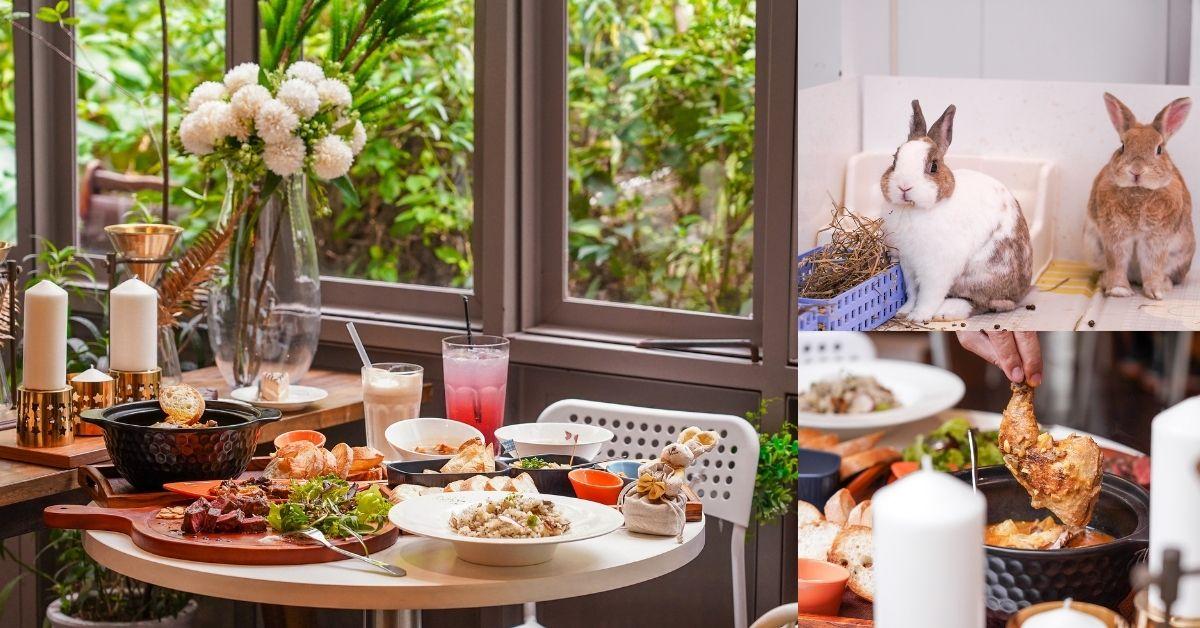 綠萼159創意料理 |台中北屯兔子寵物餐廳,燈光美氣氛佳的約會餐廳,還能跟萌兔玩耍!