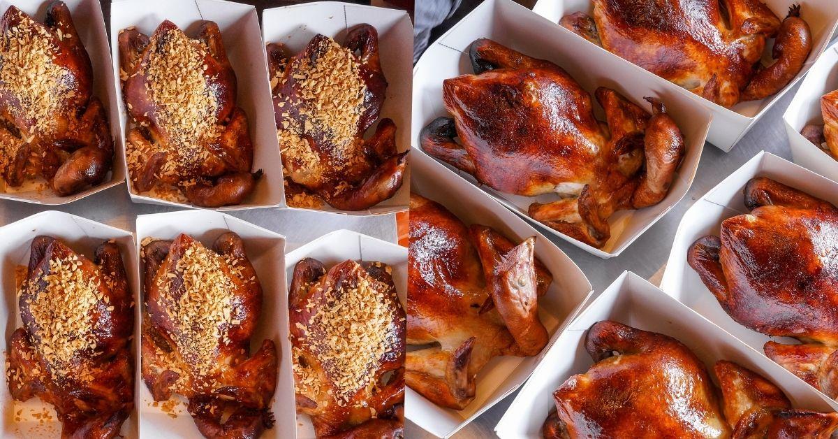 暗巷烤雞 |台中香噴多汁的1.5KG手扒雞!每日限量的現烤金黃蒜香雞、季節限定的豬肋排,一定要先預訂