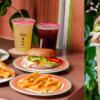 蕃茄村松竹店 |台中北屯早餐,全新推出新菜單,蕃茄吐司、紫米漢堡夾上特製梅醬、壽喜醬超好吃!