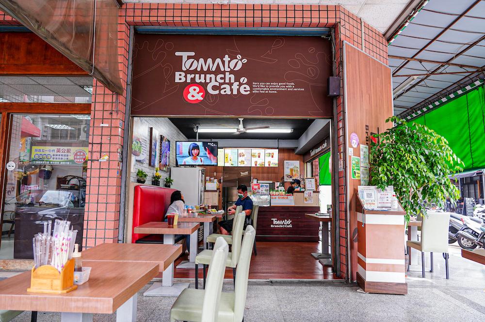 蕃茄村松竹店  台中北屯早餐,全新推出新菜單,蕃茄吐司、紫米漢堡夾上特製梅醬、壽喜醬超好吃!