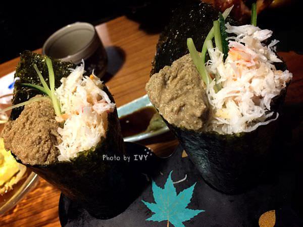 桀壽司 蟹肉蟹膏手卷