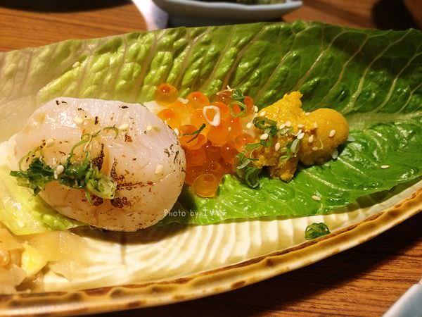桀壽司 海之幸蘿蔓舟 馬糞海膽+干貝+鮭魚卵