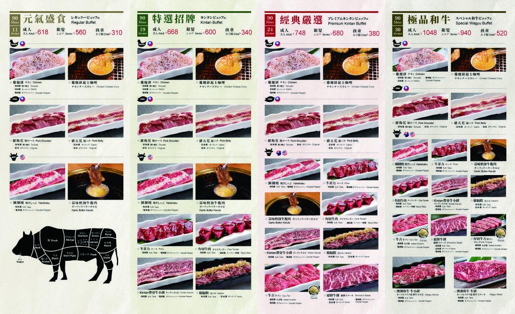 台中 Kintan Buffet  菜單